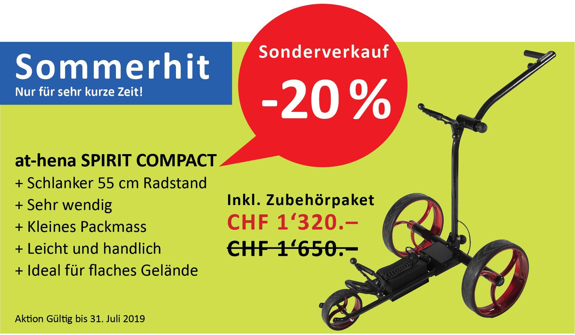 at-hena Eletro Golf Trolley Sonderverkauf SPRIT COMPACT