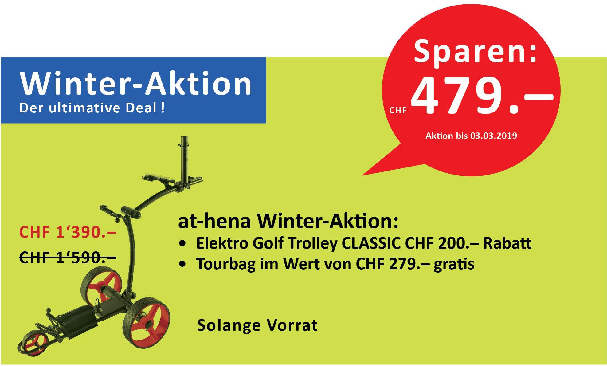 at-hena Eletro Golf Trolley BASIC plus Weihnachts-Aktion, jetzt Günstig kaufen bereits ab CHF 790.00