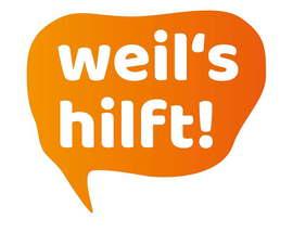 """Logo der Kampage """"Weil´s hilft"""""""