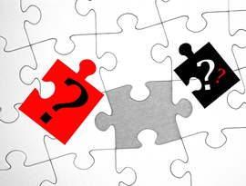 Puzzle mit fehlenden Teilen